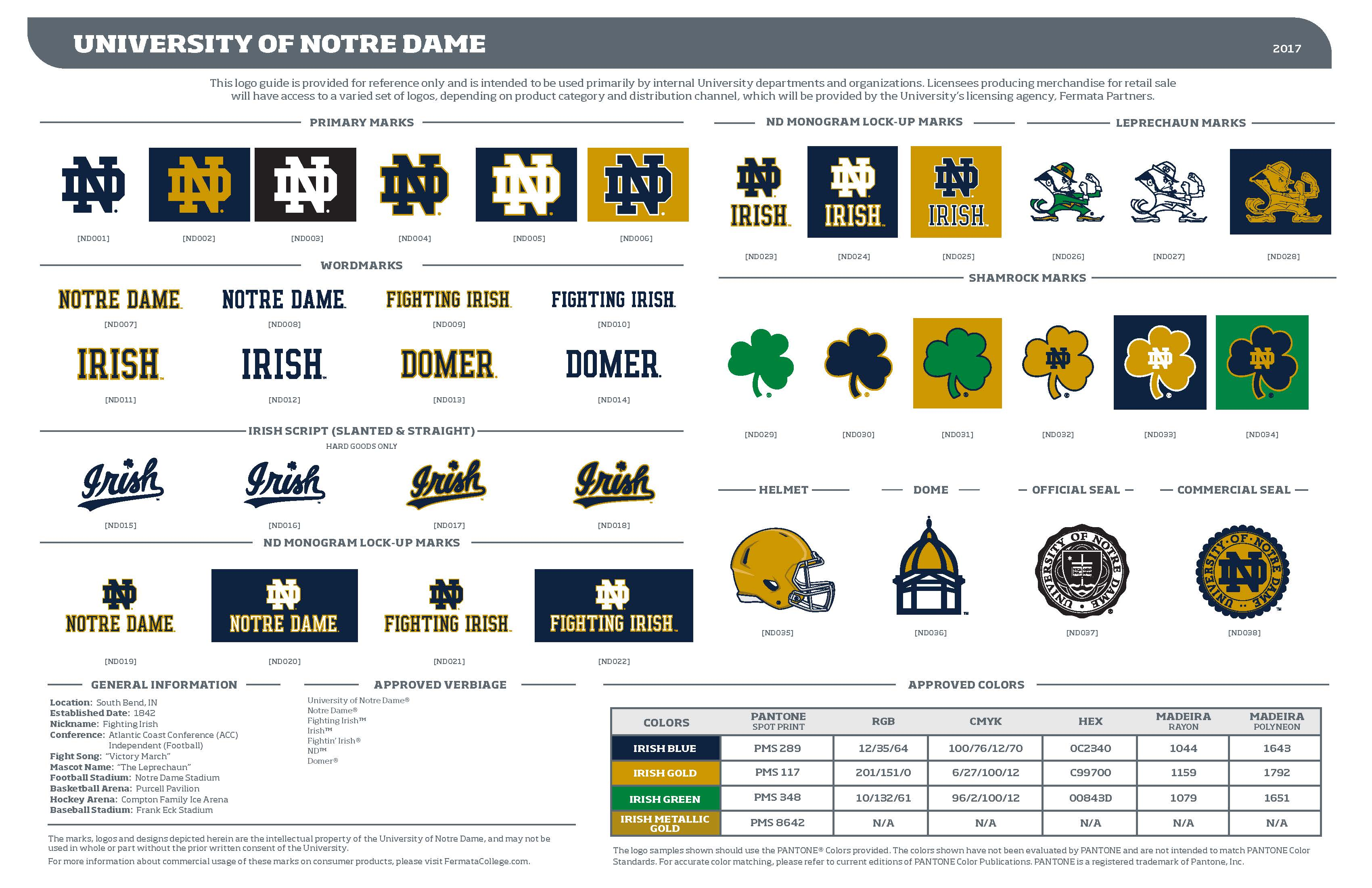 Logos and trademarks licensing university of notre dame if you need a higher resolution version of the logo sheet please contact us directly buycottarizona Gallery